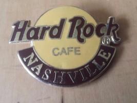"Hard Rock Cafe Nashvile Lapel Pin 1 1/2"" x 1 1/4""  Broken Pin Post - $12.86"