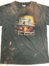 Attitude Smart Disciplined Tough Nasty Irish Football T-Shirt Size L - $17.81