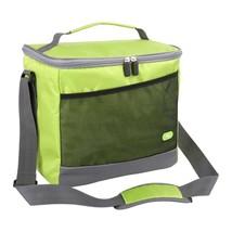 Cooler Bag, Large Capacity Picnic Bag, Green Square Handle, Shoulder Sty... - $13.85