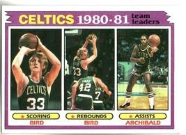 1981-82 Topps Basketball # 45 Boston Celtics Team Leaders Larry Bird Arc... - $12.00
