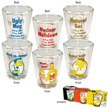 The Simpsons Beer Recipe Character Illustrated Shot Glass Set of 3 NEW U... - $9.74