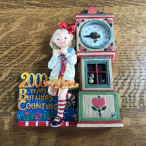 """1999 Enesco Mary Engelbreit Girl Clock """"2000 Years But Who's Counting""""  ... - $34.63"""