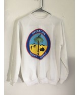 Vtg 1990 Operation Desert Shield Sweatshirt Crewneck Sz M 38-40 90's Han... - $47.50