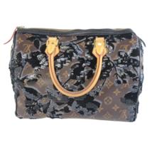 Louis Vuitton Limited Edition Monogram Fleur de Jais Speedy 30 Bag - $1,399.00