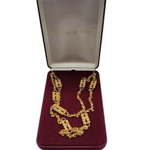 Camrose Kross JBK Gold Tone Rhinestone Double Strand Paperclip Necklace COA - $59.39