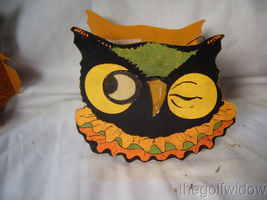 Bethany Lowe Halloween Sassy Cat, Owl and Pumpkin Small Buckets no. LC3671 image 6