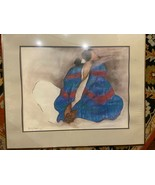 R.C.GORMAN 1977 SIGNED in plate Framed OFFSET LITHOGRAPH WOMAN WITH BLUE... - $274.99