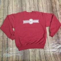 Hanes Alabama Crimson Tide Pullover Sweatshirt Mens Size Large Red Long Sleeve - $21.77