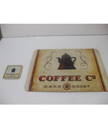 Shabby Chic Corkboard Placemat And Coaster 15 Inches X 13 Inches Coffee ... - $19.79