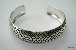 Ethnic sterling silver bracelet bangle cuff traditional handmade jewelry - $98.01