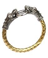 Golden Men Bracelets Dragon PU Leather Silver Animal Chinese Zodiac  - $10.00