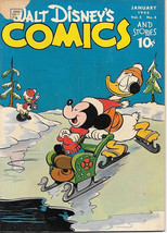 Walt Disney's Comics and Stories Comic Book #52, Dell Comics 1945 VERY GOOD- - $53.13