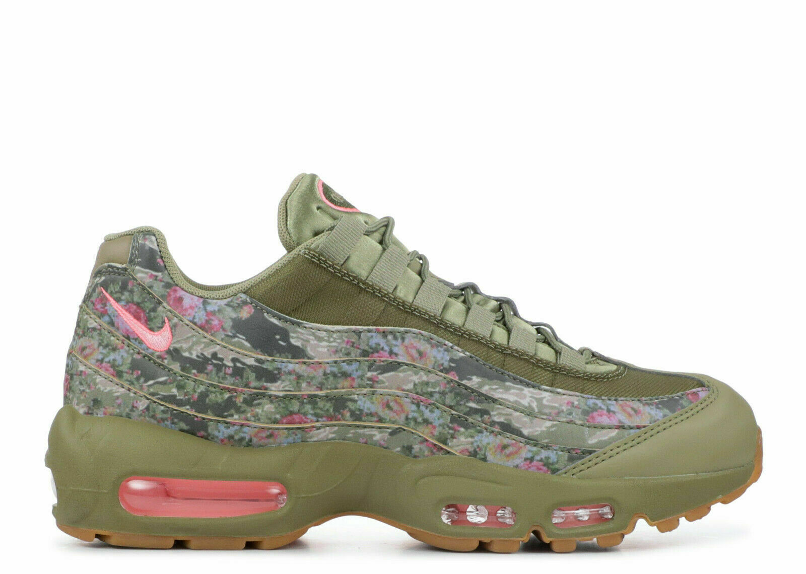 NIKE WOMEN'S AIR MAX 95 SHOES neutral olive arctic punch AQ6385 200 MSRP $180