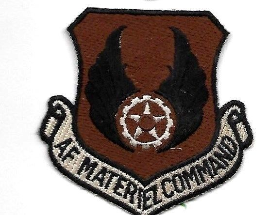 AIR FORCE USAF MATERIEL COMMAND DESERT EMBROIDERED HOOK AND LOOP PATCH - $18.04