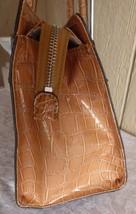 Guess Faux Leather Croc-Embossed Women's  Color Block Satchel, TORN - $14.80