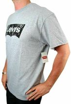 Levi's Men's Premium Classic Graphic Cotton T-Shirt Shirt Tee Gray image 3