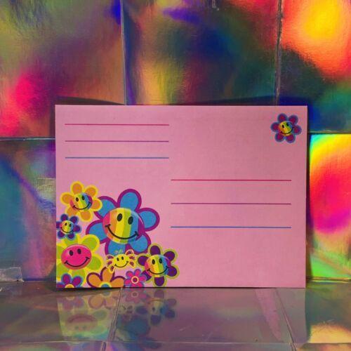 Vintage Lisa Frank Happy Smilies Smiley Face  Single Envelope