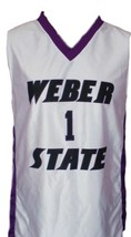 Damian Lillard Custom College Basketball Jersey Sewn White Any Size image 1