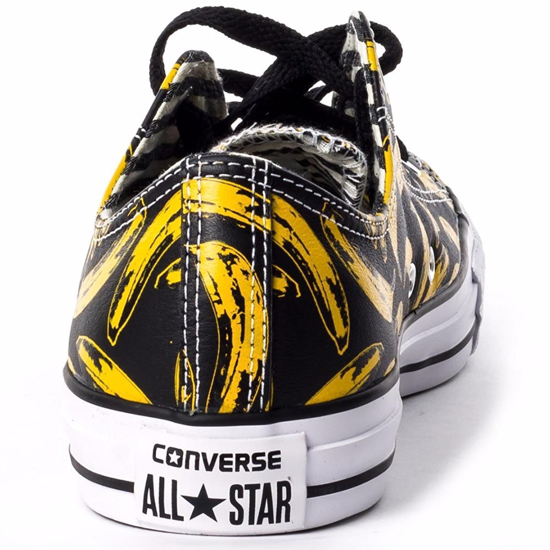 Converse Andy Warhol Chuck Taylor Lo Ox Leather Banana Velvet Underground BLACK image 5