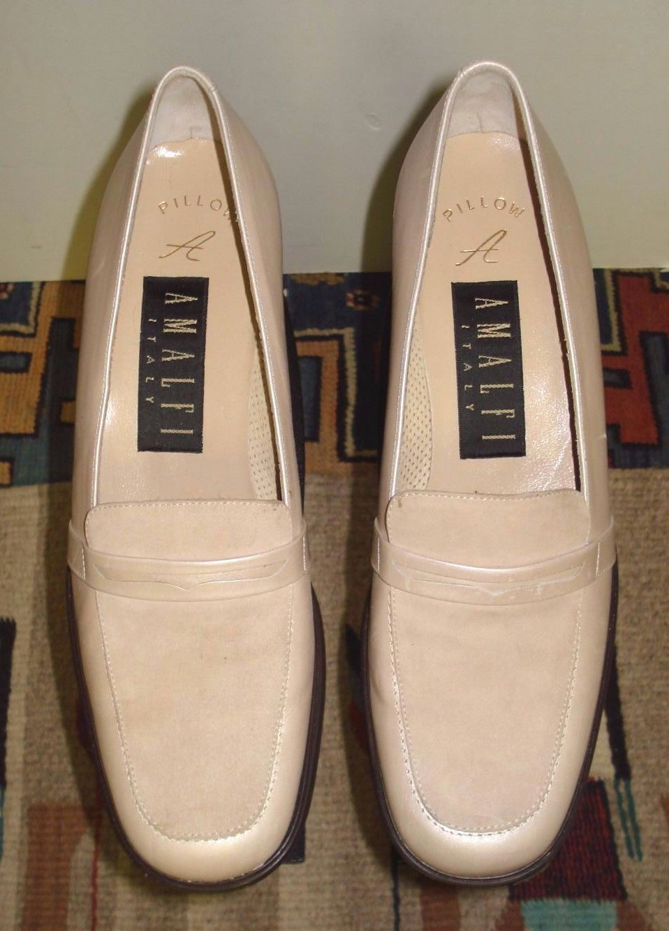 Primary image for Women's Amalfi Italy Classic Pearlescent Suede Foot Pumps Sz. 7B Excellent!