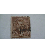 Chocolate Brown Vintage USA Used 5 Cent Stamp Cancelled - $7.86