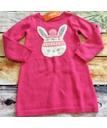 Gymboree 4T Dress Fair Isle Flurry Pink Bunny Sweater Dress NWT - $14.01