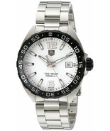 TAG HEUER WAZ1111.BA0875 Formula One White Dial Silver Tone Men's Wrist Watch - $750.00