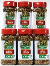 6 Count Tone's 4.5 Oz Pickling Spice Seasoning Blend For Veggies Fish Beef - $46.99