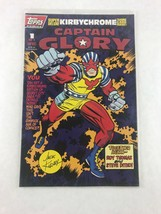 Captain Glory 1 of 1 1993 Comic Book Kirby Chrome Trading Card Topps Comics - $8.59