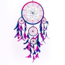 Dreamcatcher Dream Catcher Circular Purple Feathers Wall Hanging Decorat... - $17.50
