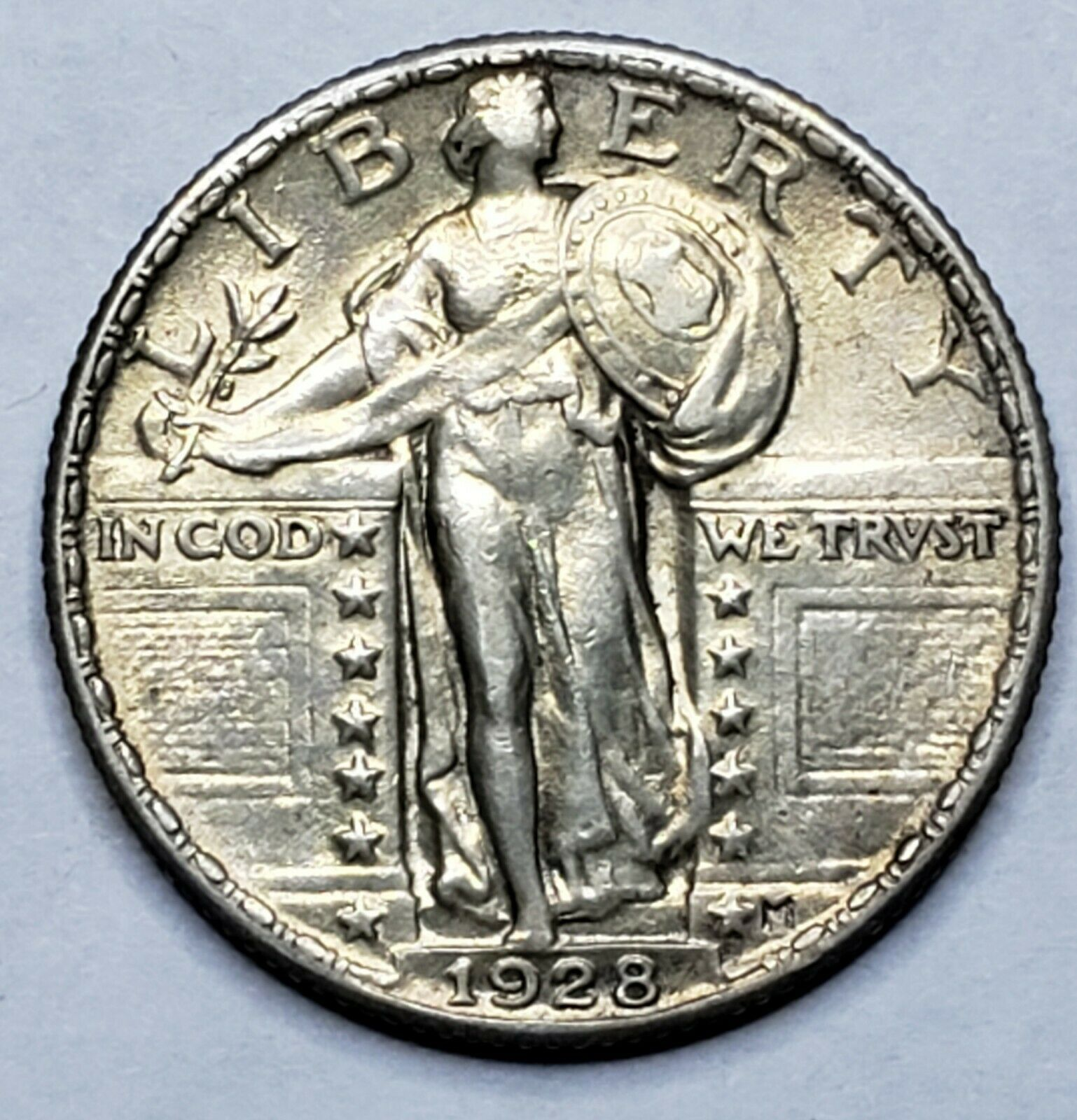 1928 Standing Liberty Silver Quarter Coin Lot 519-80