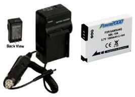 Battery + Charger For Samsung HMX-U10EN/QVC HMX-U10ENQVC HMX-U100BN HMXU10BN - $18.42