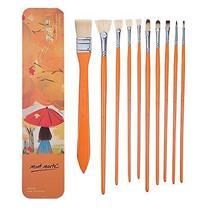 10pcs Professional Paint Brushes Artist for Watercolor Oil Acrylic Paint... - £19.53 GBP