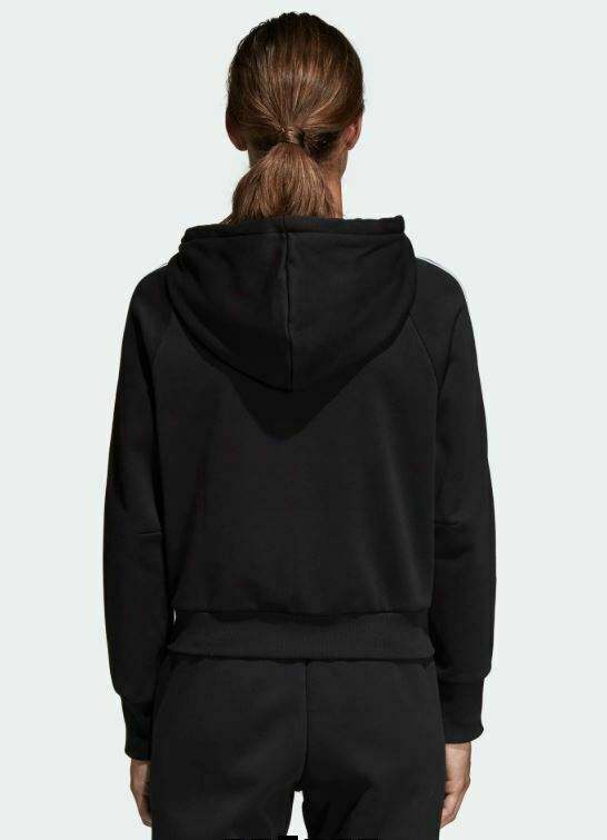 ADIDAS WOMEN'S MUST HAVES 3 STRIPES FULL ZIP HOODIE US SIZE L STYLE#DW9695