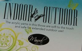 Manual AICWBL Indoor Outdoor Acrylic Throw Blanket Color Aqua Green image 3