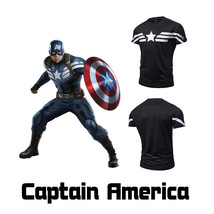 Mens Short Sleeve T-Shirt Superhero Captain America Winter Soldier Union Tops image 2