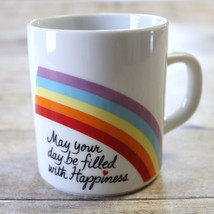 May Your Day Be Filled With Happiness Coffee Mug Cup Rainbow Avon Easter... - $14.99