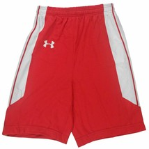 Under Armour Youth Black Red Basketball Shorts Relax Fit Casual Size Med... - $8.99
