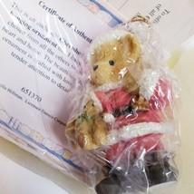 "1995 CHERISHED TEDDIES BEAR DRESSED AS SANTA 651370 ORNAMENT 2.75"" - $19.69"