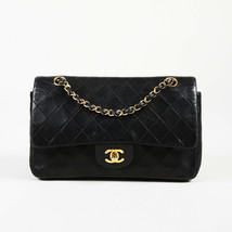 "Vintage Chanel 1991-1994 Quilted Leather Medium ""Double Flap"" Bag - $2,605.00"
