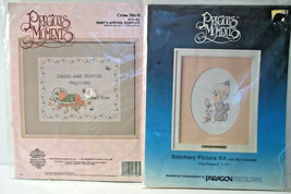 Precious Moments 2 Cross Stitch Kits Janlynn 131-03 Baby Arrival + Parag... - $19.79