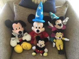 SET OF 5 DISNEY MICKEY MOUSE VINTAGE PLUSH - $29.69