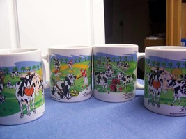 All Star Cows (4) Cups Mugs Basketball 2, Baseball, Football - $13.83
