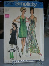 Simplicity 8487 Misses Dress in 2 Lengths Pattern - Size 12 Bust 34 - $19.79