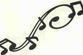 black large music score decal ideal cars, trucks, home etc easy to apply