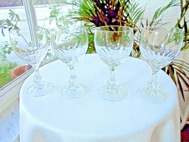 Set of 4 Nachtmann Clear Crystal Stemware Cordial Glasses - $34.64