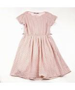 Bordeaux Los Angeles Pink Dress Womens Size Small Polka Dot Short Sleeve... - $16.18