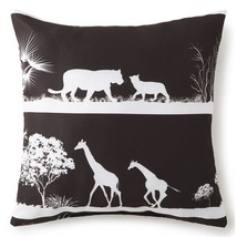 Colcha Linens CP-AF-SE-ST 18 x 18 in. African Safari Square Pillow - Bla... - $41.67