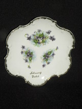 """Vintage Norcrest Fine China """"February"""" Gold Rimmed Plate with Violets, #... - $6.99"""