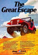 1974 Jeep CJ-5 - The Great Escape - Promotional Advertising Poster - $9.99+